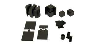 moldes de grafite para sinterização, segmentos e moldes para a fabricação de ferramentas diamantadas, entre outros produtos para sinterização.
